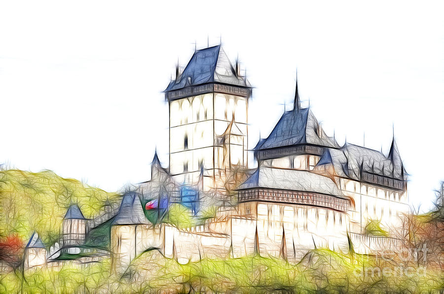 Karlstejn - Famous Gothic Castle Digital Art
