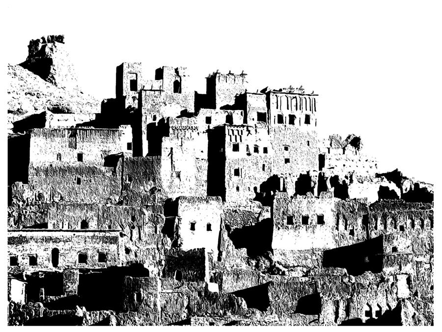 Old Unique Kind Of Buildings Called The Trachea  Photograph - Kasaba  by Graid Abdelkarim