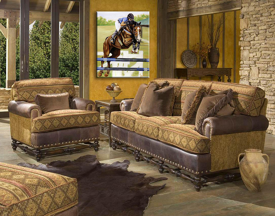 kassius western living room showcase by teshia art