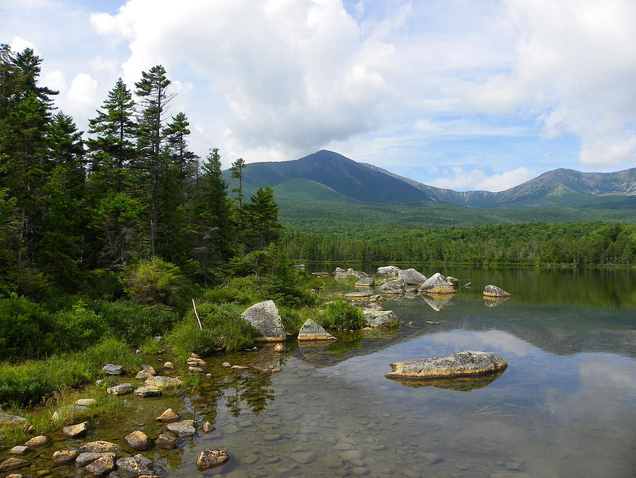Katahdin And Sandy Stream Pond Photograph  - Katahdin And Sandy Stream Pond Fine Art Print