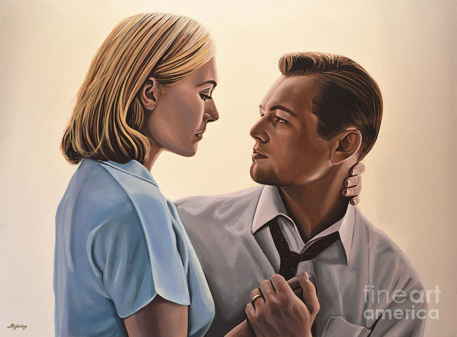 Kate Winslet And Leonardo Dicaprio Painting