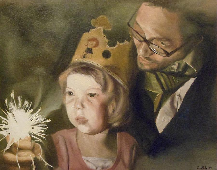 Kates Sparkler Painting