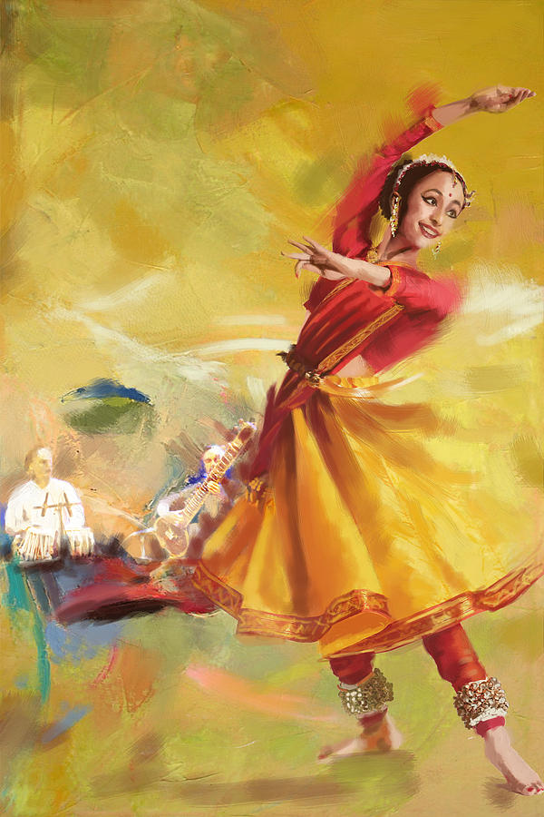 Kathak Dance Painting by Catf