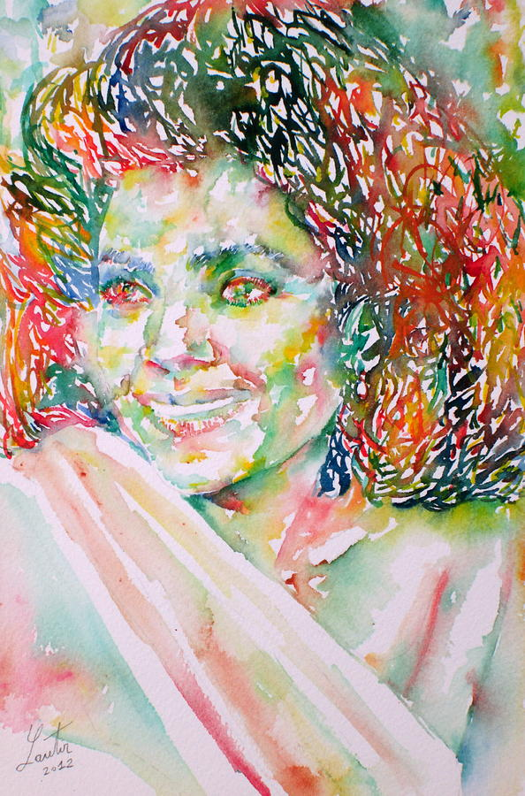 Kathleen Battle - Watercolor Portrait Painting  - Kathleen Battle - Watercolor Portrait Fine Art Print