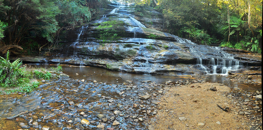 Landscape Photograph - Katoomba Cascades Panorama by Terry Everson