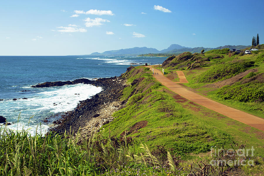 Alongside Photograph - Kauai Coast by Kicka Witte