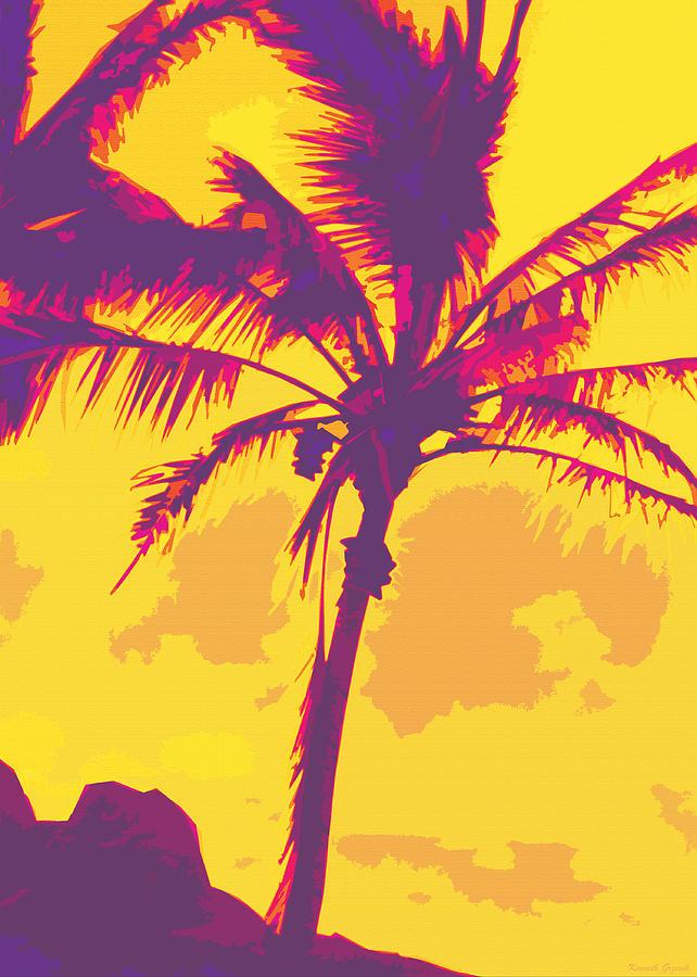 Tropical Interior Design Digital Art - Kauluwela Moku 27 by Kenneth Grzesik