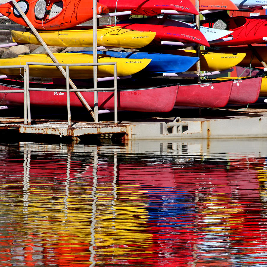 Kayak Reflections Photograph