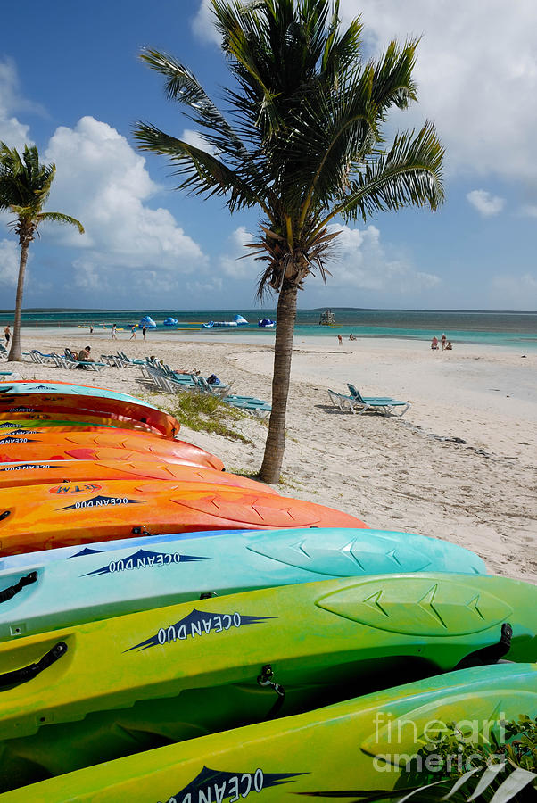 Kayaks On The Beach Photograph