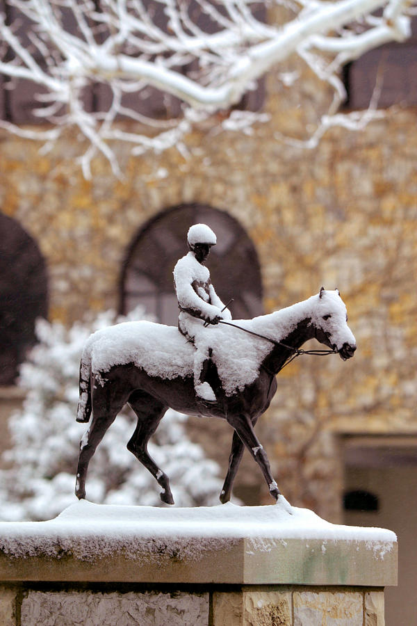 Horses Photograph - Keeneland In Winter by Sid Webb