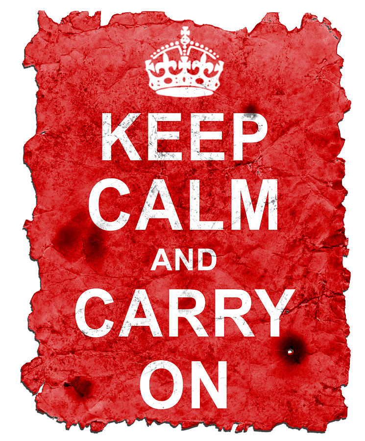 Keep Calm Poster Torn Digital Art  - Keep Calm Poster Torn Fine Art Print