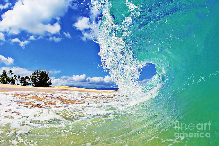 Ocean Photograph - Keiki Beach Wave by Paul Topp