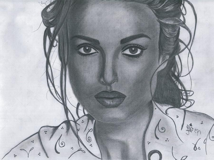 Keira Knightly Drawing - Keira Knightly by Bobby Dar