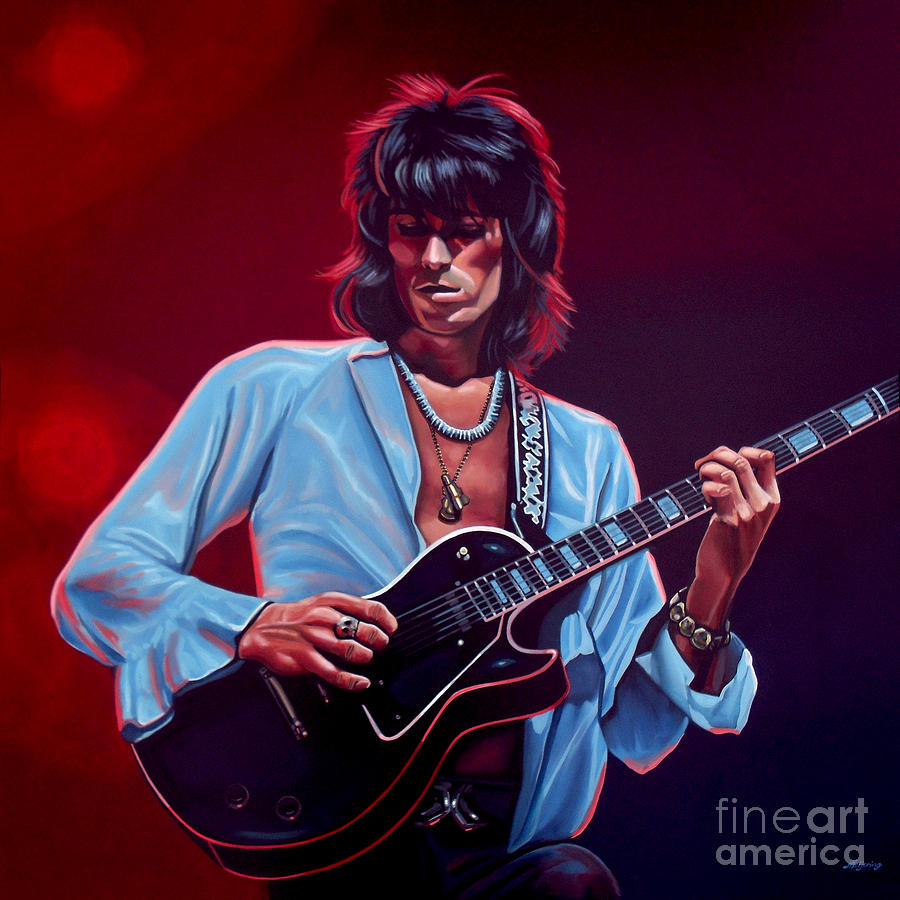 Keith Richards 2 Painting  - Keith Richards 2 Fine Art Print
