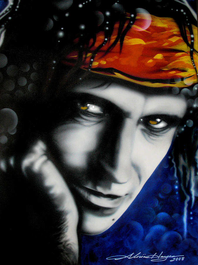 Keith Richards Painting  - Keith Richards Fine Art Print