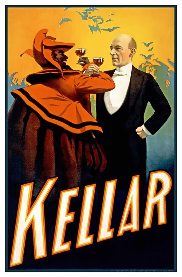 Kellar Toasts The Devil Painting