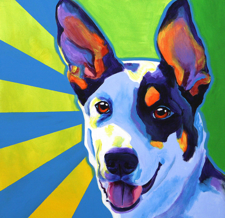 Kelpie oakey painting by alicia vannoy call for Dog painting artist