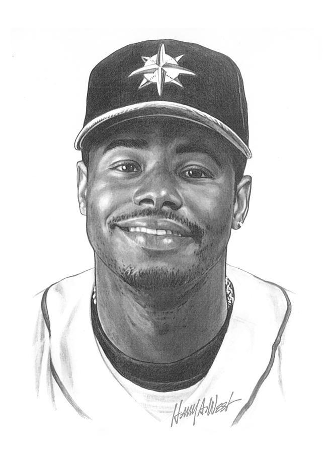 Ken Griffey Jr Drawing  - Ken Griffey Jr Fine Art Print