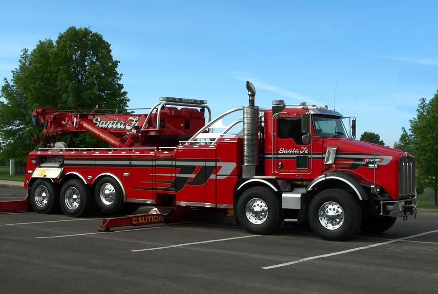 Kenworth Big Rig Tow Truck Photograph By Tim Mccullough