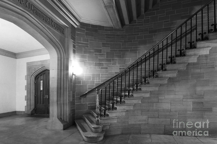 Kenyon College Peirce Stairway Photograph  - Kenyon College Peirce Stairway Fine Art Print