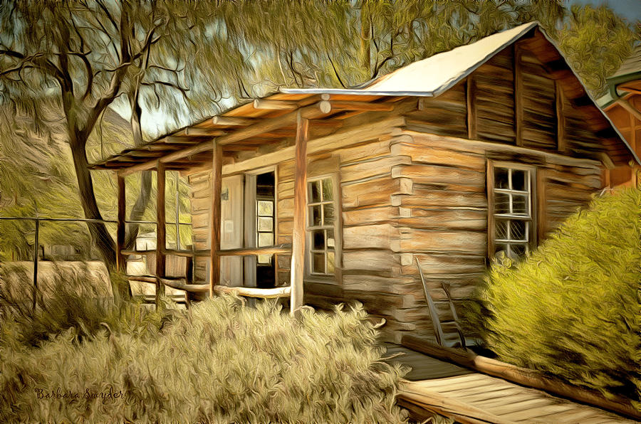 Kern River Miners Cabin Painting By Barbara Snyder