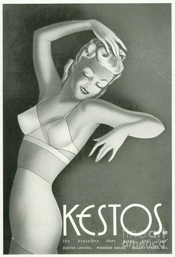 Kestos 1930s Uk Womens Underwear Bras Drawing  - Kestos 1930s Uk Womens Underwear Bras Fine Art Print