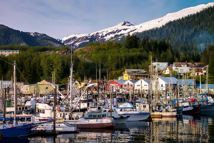 Landscape Photograph - Ketchikan Alaska Dock by Michael J Bauer