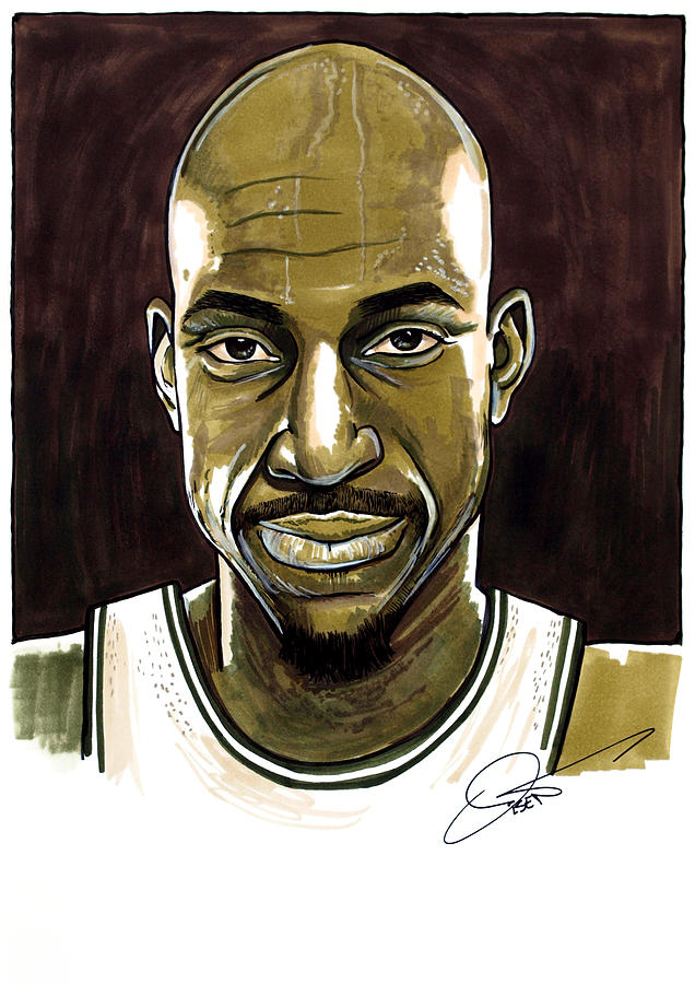 Kevin Garnett Portrait Drawing