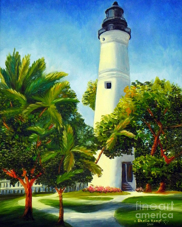 Westlight House: Key West Lighthouse Painting By Shelia Kempf