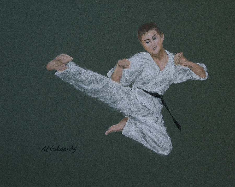 Kick Fighter Pastel  - Kick Fighter Fine Art Print