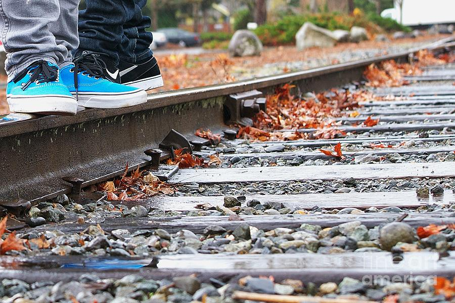 Kicks On Tracks Photograph  - Kicks On Tracks Fine Art Print