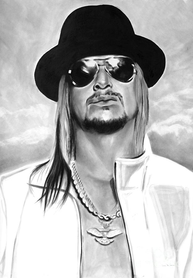 Bdcurran Drawing - Kid Rock by Brian Curran