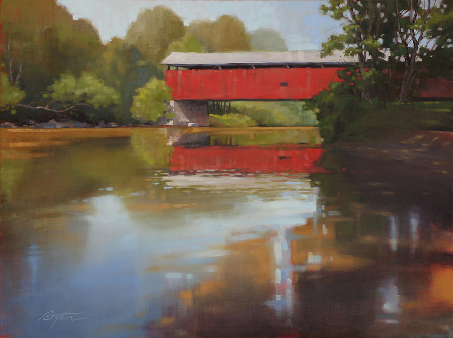 Kidds Mill Bridge Painting  - Kidds Mill Bridge Fine Art Print