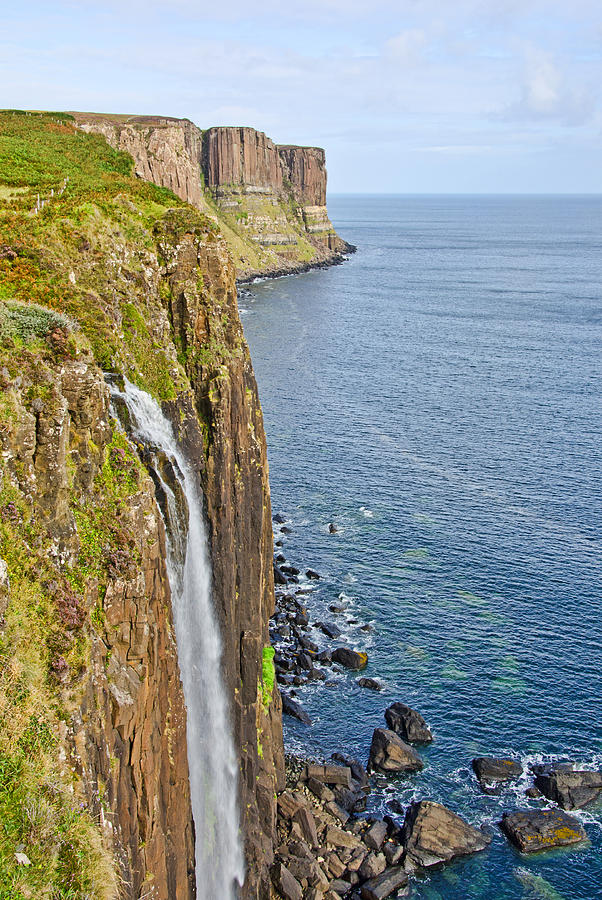 Kilt Rock Waterfall Photograph  - Kilt Rock Waterfall Fine Art Print
