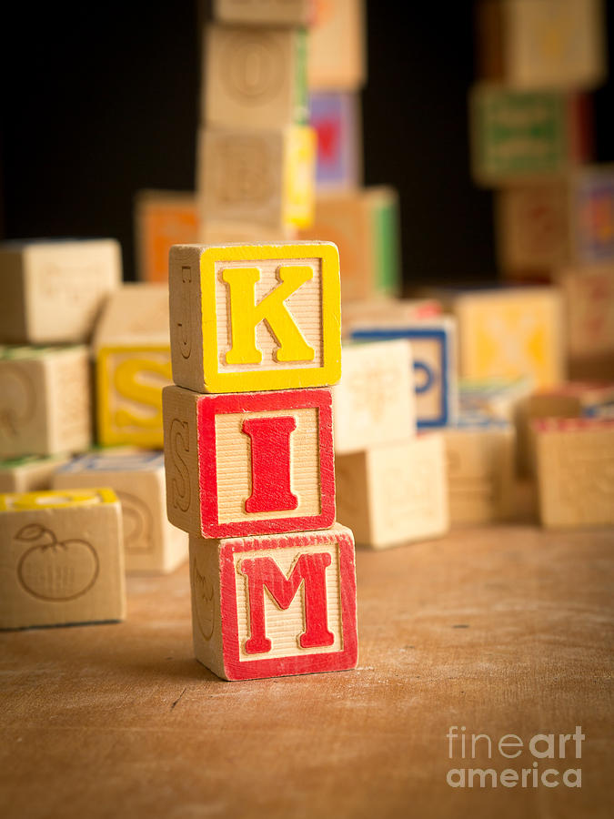 Kim - Alphabet Blocks Photograph  - Kim - Alphabet Blocks Fine Art Print
