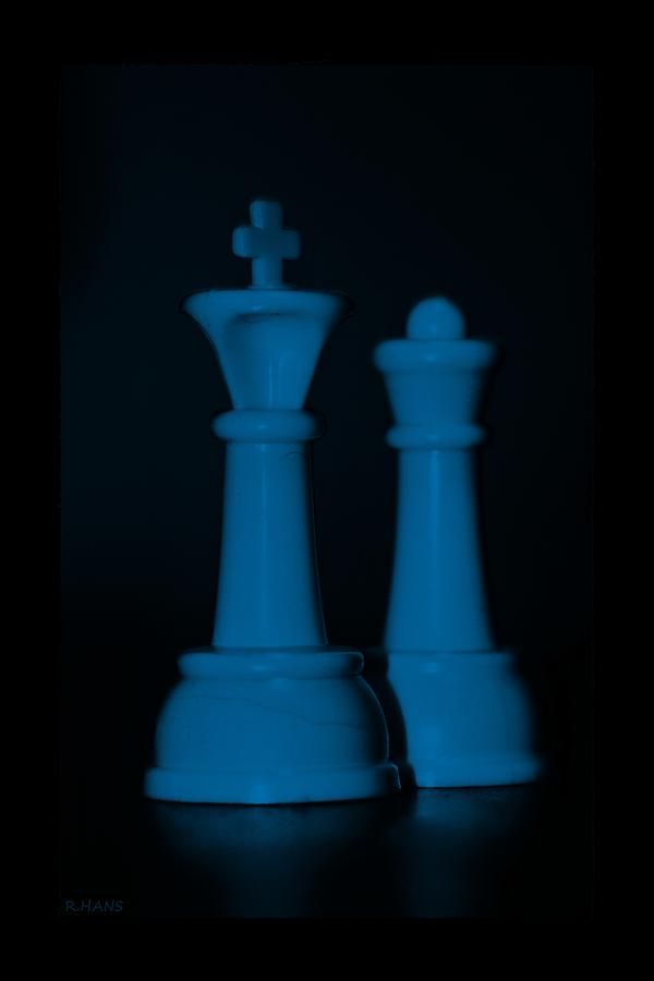 King And Queen In Blue Photograph