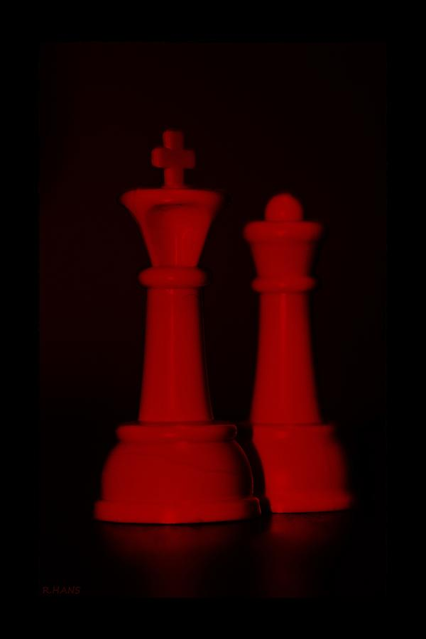 King And Queen In Red Photograph