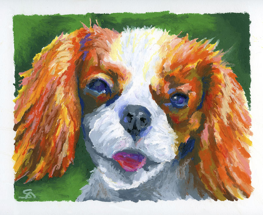Dog Painting - King Charles by Stephen Anderson