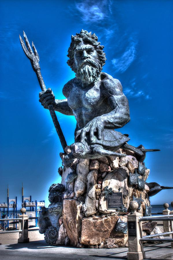 King Neptune Statue Photograph by Shannon Louder