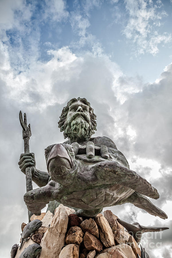 King Neptune Statue Virginia Beach Photograph by Leslie Banks