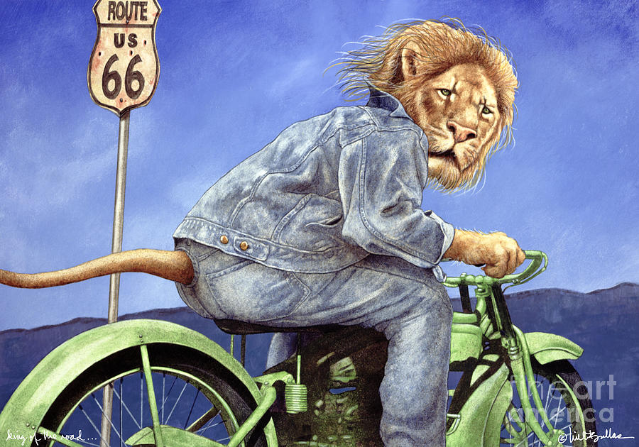 Will Bullas Painting - King Of The Road... by Will Bullas