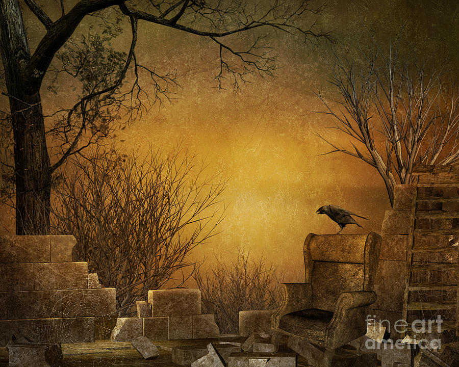 King Of The Ruins Digital Art  - King Of The Ruins Fine Art Print