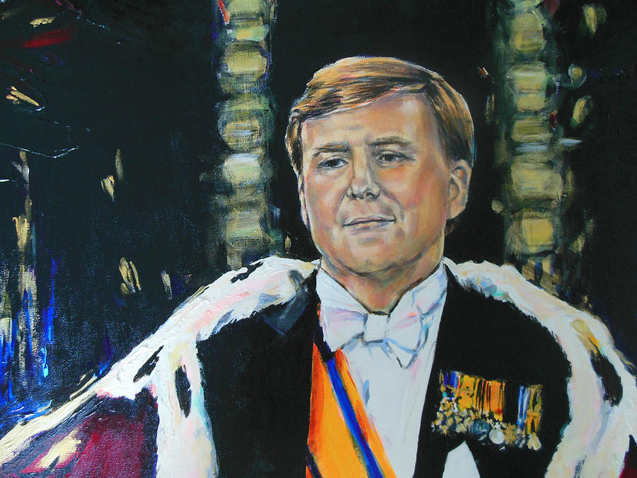 King Willem Alexander Painting  - King Willem Alexander Fine Art Print
