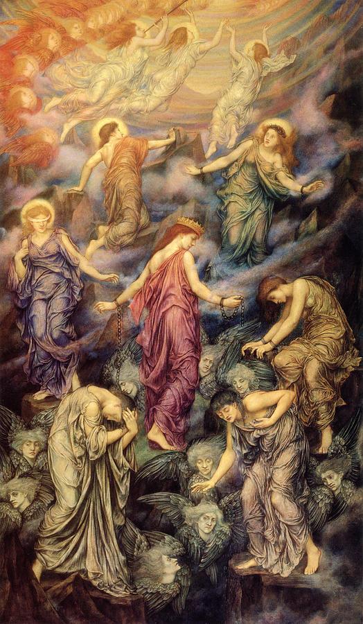 Kingdom Of Heaven And Hell Digital Art By Evelyn De Morgan