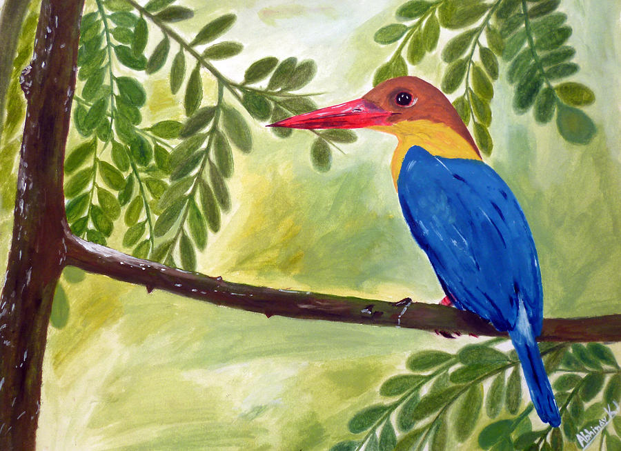 Kingfisher - A Bird Painting