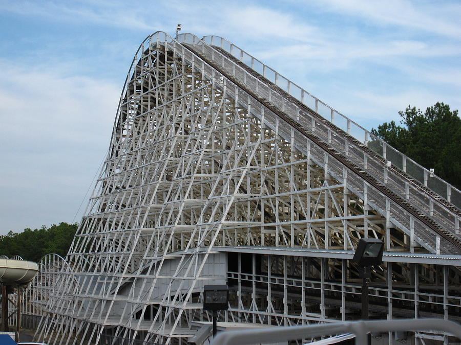 Kings Dominion - Rebel Yell - 12121 Photograph