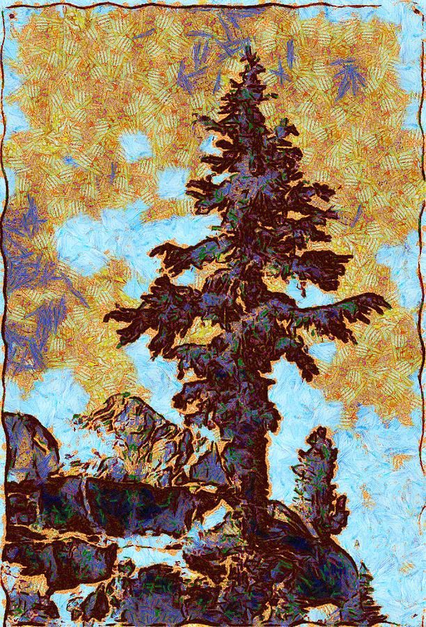 Ansel Easton Adams (february 20 Digital Art - Kings River Canyon Colorized by Ansel Adams
