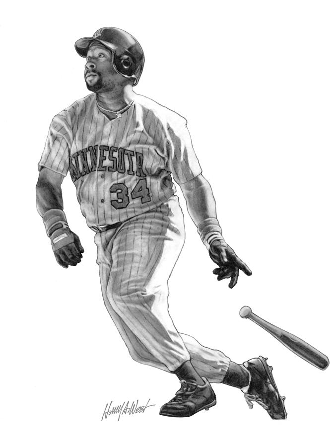 Kirby Puckett Drawing  - Kirby Puckett Fine Art Print