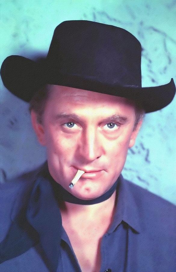 Kirk Douglas In Man Without A Star Photograph  - Kirk Douglas In Man Without A Star Fine Art Print
