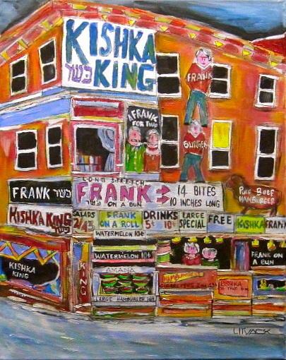 Kishka King On Pitkan Painting by Michael Litvack